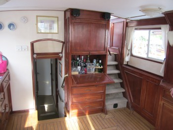 companionways looking aft.