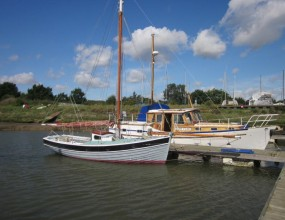 Bawley Yacht by Cyril White 24ft,  John Leather Gaffer, 1965