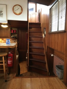 stairs to wheel house