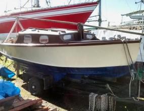 16ft trailer sailer, gunter rig, YM Senior