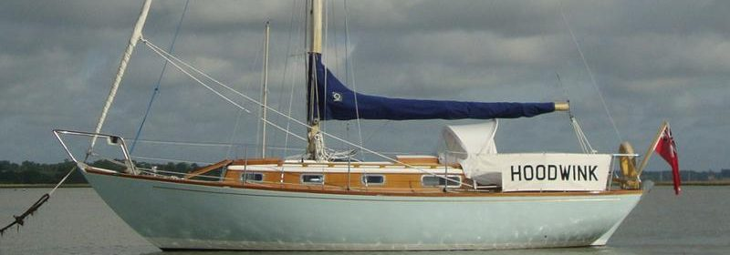 27ft Twister Holman's Bermudan Sloop, Classic All wood.