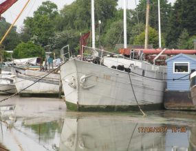 30m Dutch Klipper Steel Sailing Barge, House boat