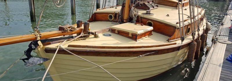 23ft Dauntless clinker wooden Gaffer