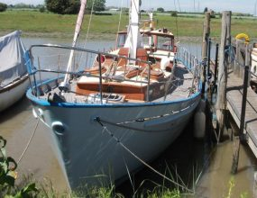 35ft Classic Teak motor sailor, twin engines, ketch rig