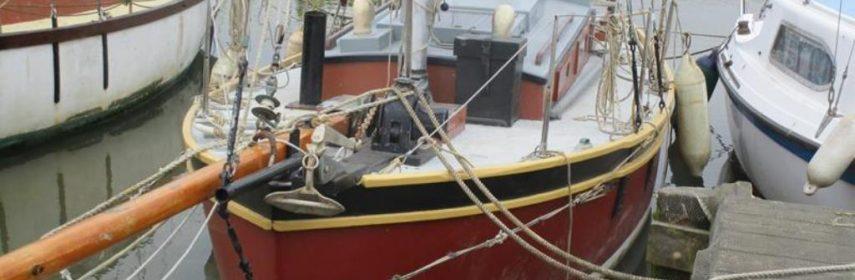 Ferro Gaff Cutter Percy Dalton 22ft on deck.