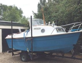 15ft GRP fishing boat and trailer