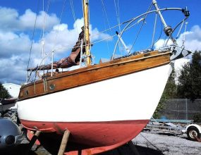 22ft Rossiters Heron, Classic Wooden Bermudian Sloop