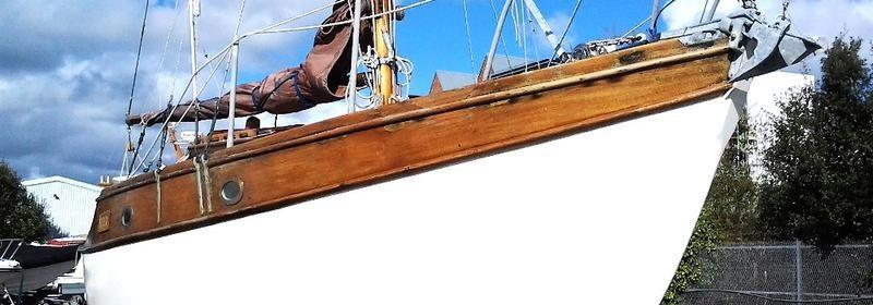 22ft Rossiters Heron, Classic Wooden Bermudian Sloop