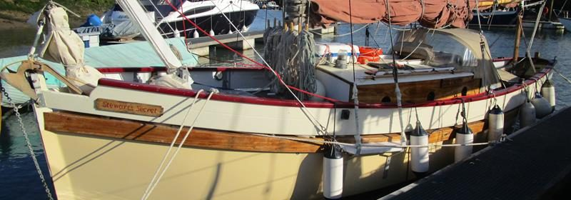 29ft Smack Yacht, GRP, teak deck, Gaff Rig