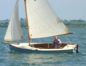Tela 16, GRP Gaff rigged day boat with Road Trailer.