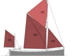 55ft Sailing Thames Barge, new build Steel