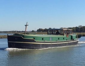 60ft Replica Dutch motor Barge cruising home, 2010