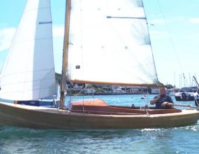 J18 Classic Scandinavian wooden 3/4 decked day boat