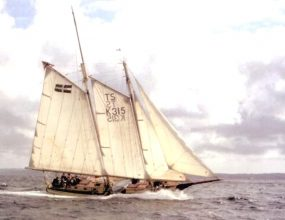 50ft Gaff Schooner, wooden 41ft on deck. Built in Fowey Cornwall 1980