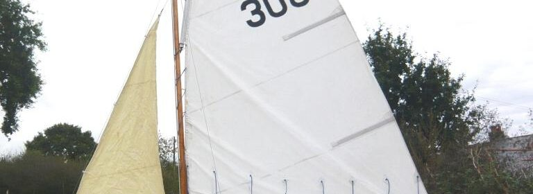 13ft GRP sailing http://www.mjlewisboatsales.com/wp-admin/edit.php?post_type=boatsdinghy with road trailer, Gunter rig.