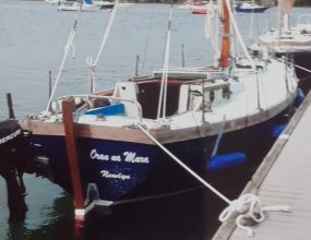 20ft GRP Gaff cutter, Traditional lines of a West Country work boat