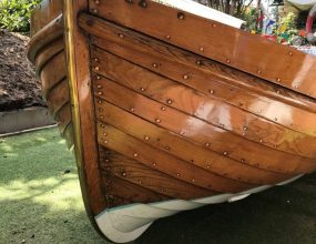 9ft Stem Dinghy, Wooden clinker