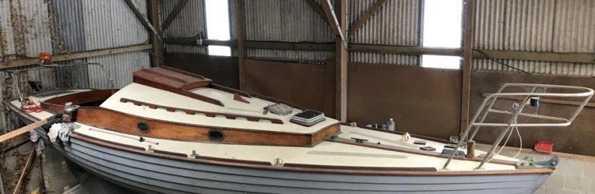 Classic Nordic Folkboat clinker teak, Cyril White