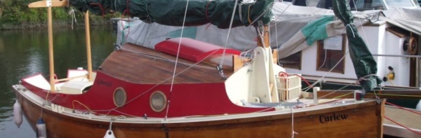 17ft 6ins Gaff Cutter, strip planked 2006 with Road Trailer